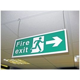 Fire Exit Sign - Left/Right (Hanging Sign)