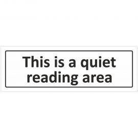 This Is A Quiet Reading Area Door Sign