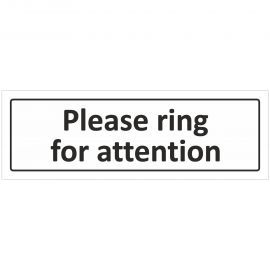 Please Ring For Attention Door Sign
