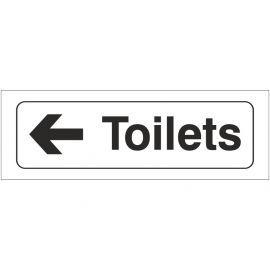 Toilets Left Door Sign