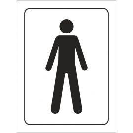 Male Toilet Symbol Door Sign