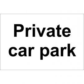 Private Car park sign