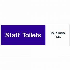 Staff Toilets Door Sign