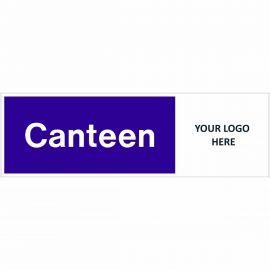 Canteen Door Sign