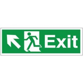 Exit Arrow Up Left Sign