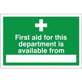 First Aid For This Department Sign