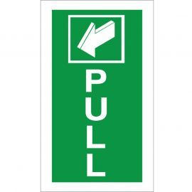 Pull Arrow Back Sign - 100x200