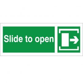 Slide To Open Arrow Right Sign