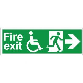 Refuge Fire Exit Arrow Right Sign -