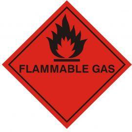 Flamable Gas Warning Sticker