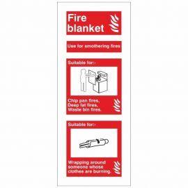 Fire Blanket Fire I.D Sign 80x200