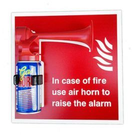 Handheld Gas Horn - With Sign