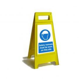 Safety Helmets Must Be Worn On This Site Custom Made A Board Freestanding Sign 600mm