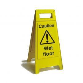 Caution Wet Floor Free Standing Sign 600mm