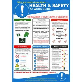 Health And Safety Poster - 420W x 595Hmm