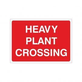 Heavy Plant Crossing Temporary Sign - 1050W x 750Hmm