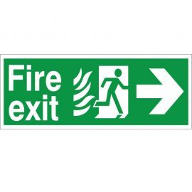 Hospital Compliant Fire Exit Arrow Right Sign