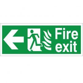 Hospital Compliant Fire Exit Arrow Left Sign