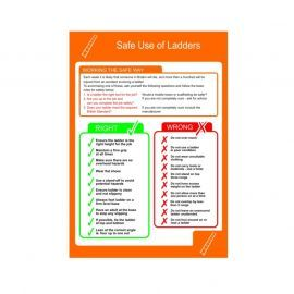 Safe Use Of Ladders Poster - Rigid Plastic