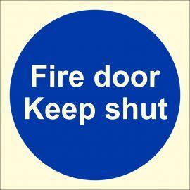 Glow In Dark Fire Door Keep Shut Sign