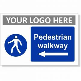 Pedestrian Walkway Arrow Left Sign