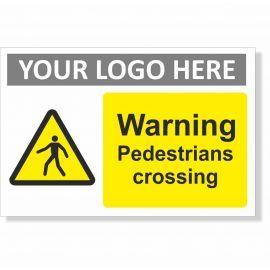 Warning Pedestrians Crossing Sign