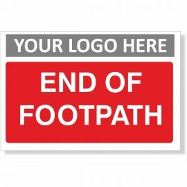 End Of Footpath Sign