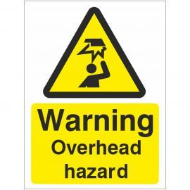 Warning Overhead Hazard Sign