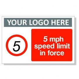 5MPH Speed Limit In Force Sign