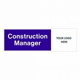 Construction Manager Door Sign