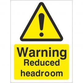 Warning Reduced Headroom Sign
