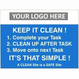 Keep It Clean Waste Sign