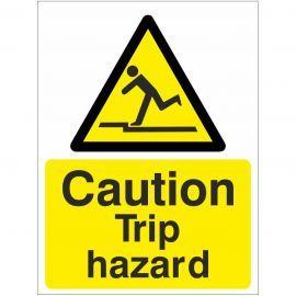Caution Trip Hazard Sign