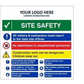 Site Safety Multi Message Safety Board