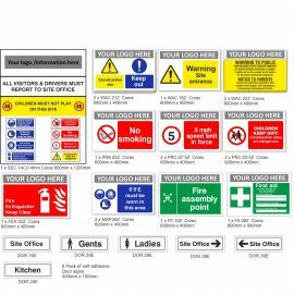 Medium Construction Safety Signs Pack (A)