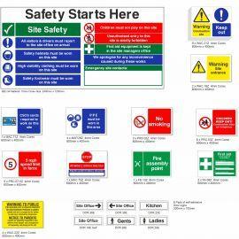 Large Construction Safety Signs Pack - Landscape