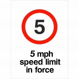 5MPH Speed Limit Sign