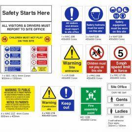 Medium Construction Safety Signs Pack (B)