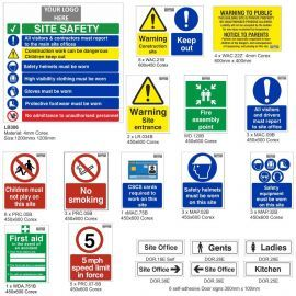 Large Construction Safety Signs Pack - Portrait