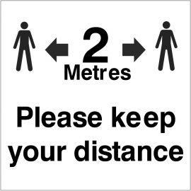 Please Keep Your Distance Helmet Sticker
