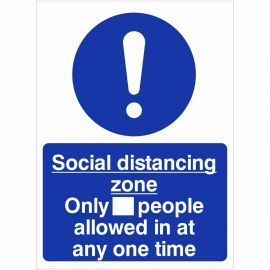 Social Distancing Zone Sign (Writable)
