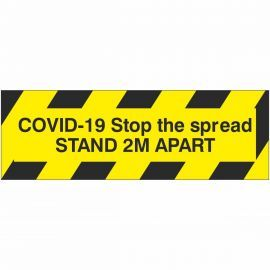 Covid-19 Stop The Spread Stand 2m Apart Sticker