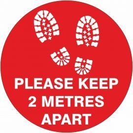 Please Keep 2 Metres Apart Floor Graphic Sticker