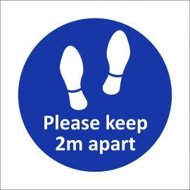 Please Keep 2m Apart Sticker - Pack of 10