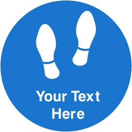 Your Text Here Floor Graphic Sticker Sign (Blue)