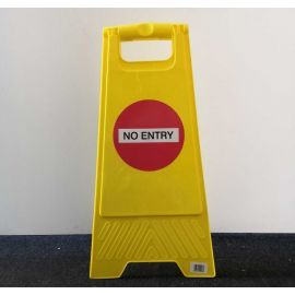 No Entry Freestanding Sign