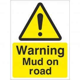 Warning Mud On Road Sign