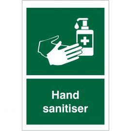 Hand Sanitiser Sign (Green)