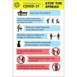 Coronavirus Covid 19 Stop The Spread Sign