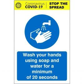 Wash You Hands With Soap And Water Covid 19 Sign